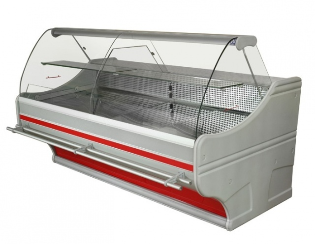WCh-6/1B Hajlított üvegű csemegepult (1200x1100x1250 mm)