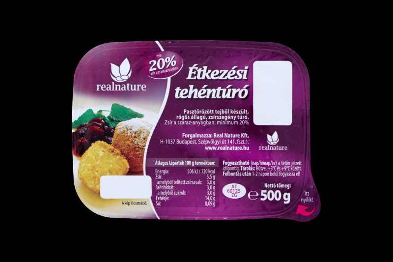 REAL NATURE Etkezesi tehenturo 500g