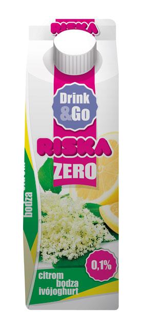 RISKA ZERO DRINK and GO gyumolcsos ivojoghurtok 450g