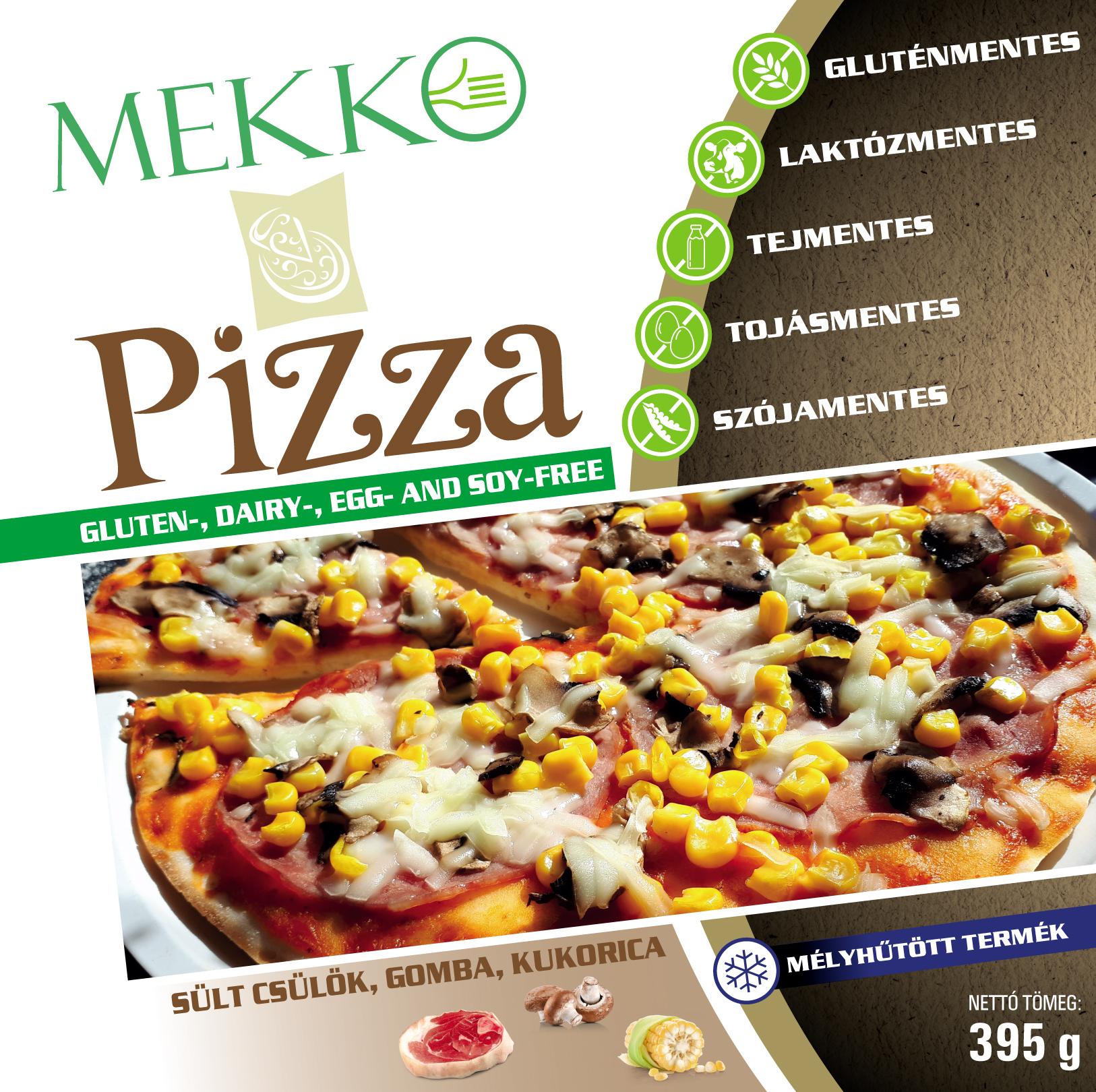 MEKKO Allergenmentes pizza csulok, gomba, kukorica 395g