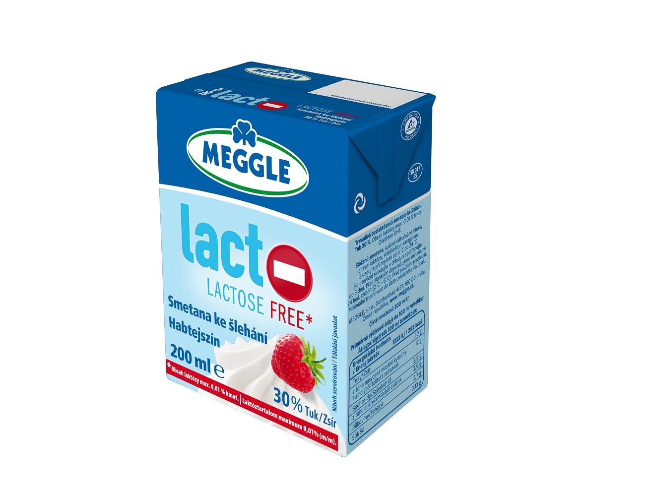 MEGGLE Laktozmentes habtejszín UHT 20% 200ml