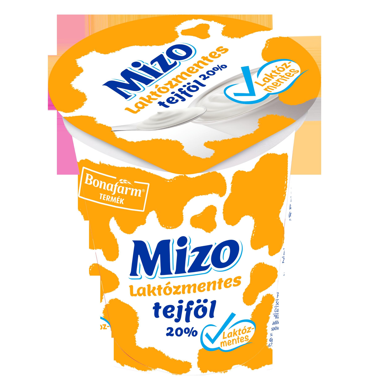 MIZO Laktozmentes tejfol 20% 330g