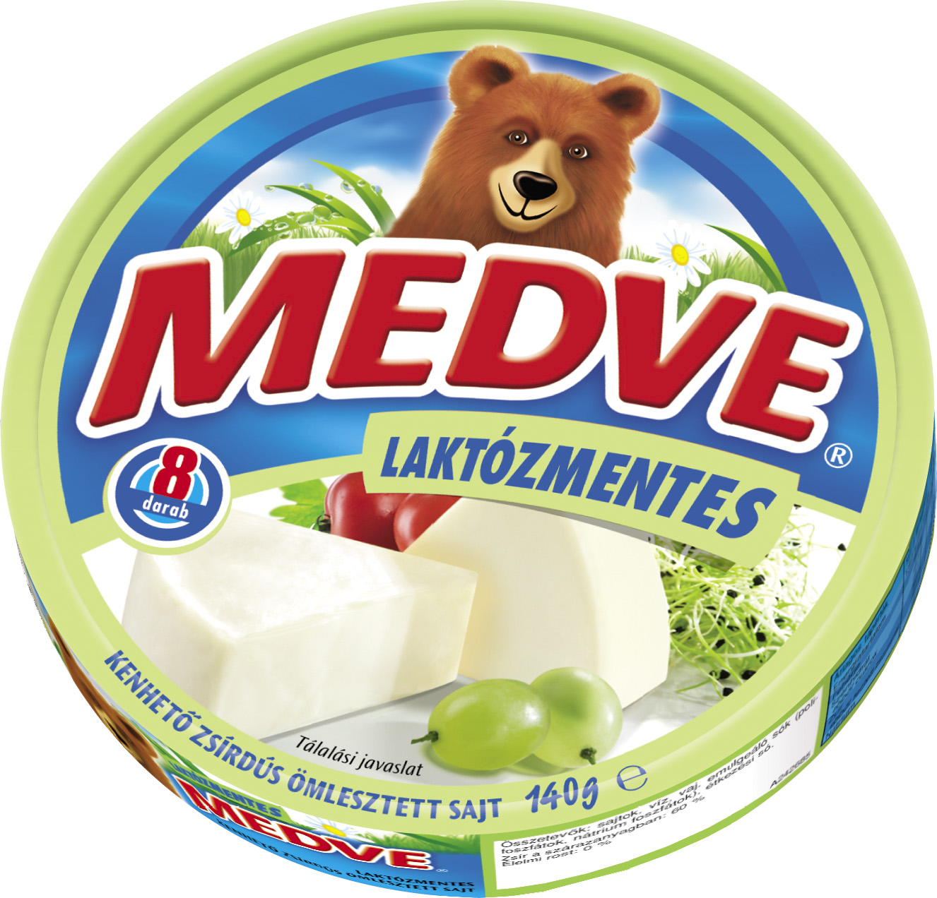 Medve Kordobozos laktozmentes sajt 140g
