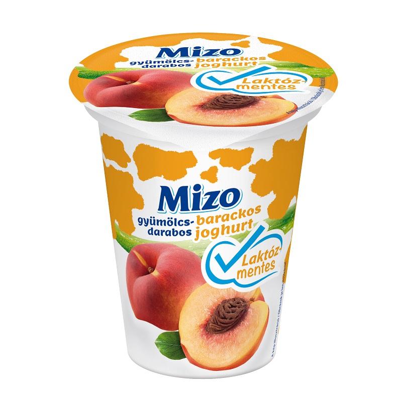 MIZO Laktozmentes gyumolcsjoghurt barackos gyumolcsdarabos 150g
