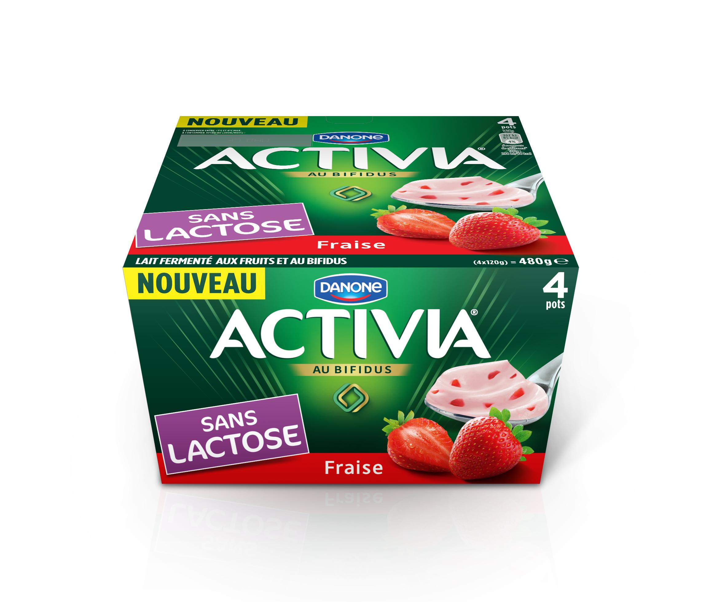 DANONE Activia Laktózmentes gyümölcsjoghurt barack-maracuja, eper 4x120g