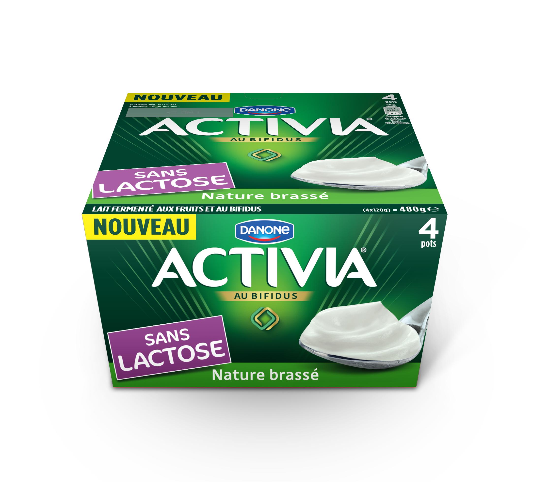 DANONE Activia Laktózmentes natúr joghurt 4x120g