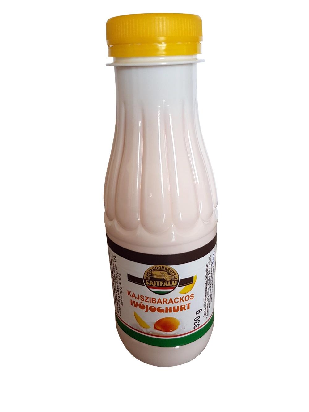 Magyardombegyházi kajszibarackos ivójoghurt 330g