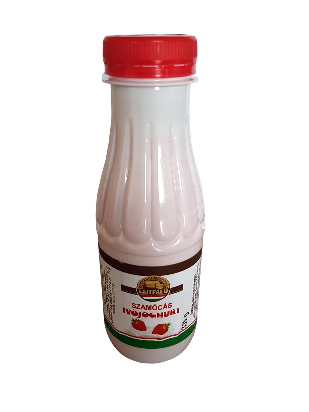 Magyardombegyházi szamócás ivójoghurt 330g