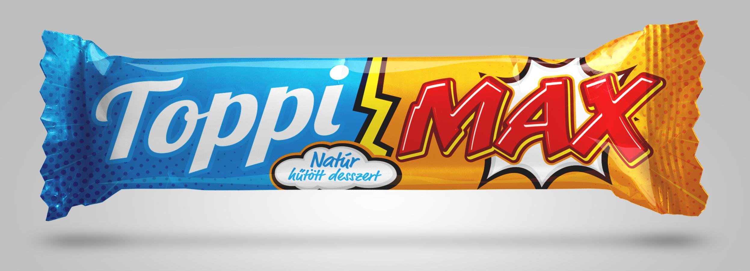 Toppi Max hűtött desszert natúr multipack 5x51g
