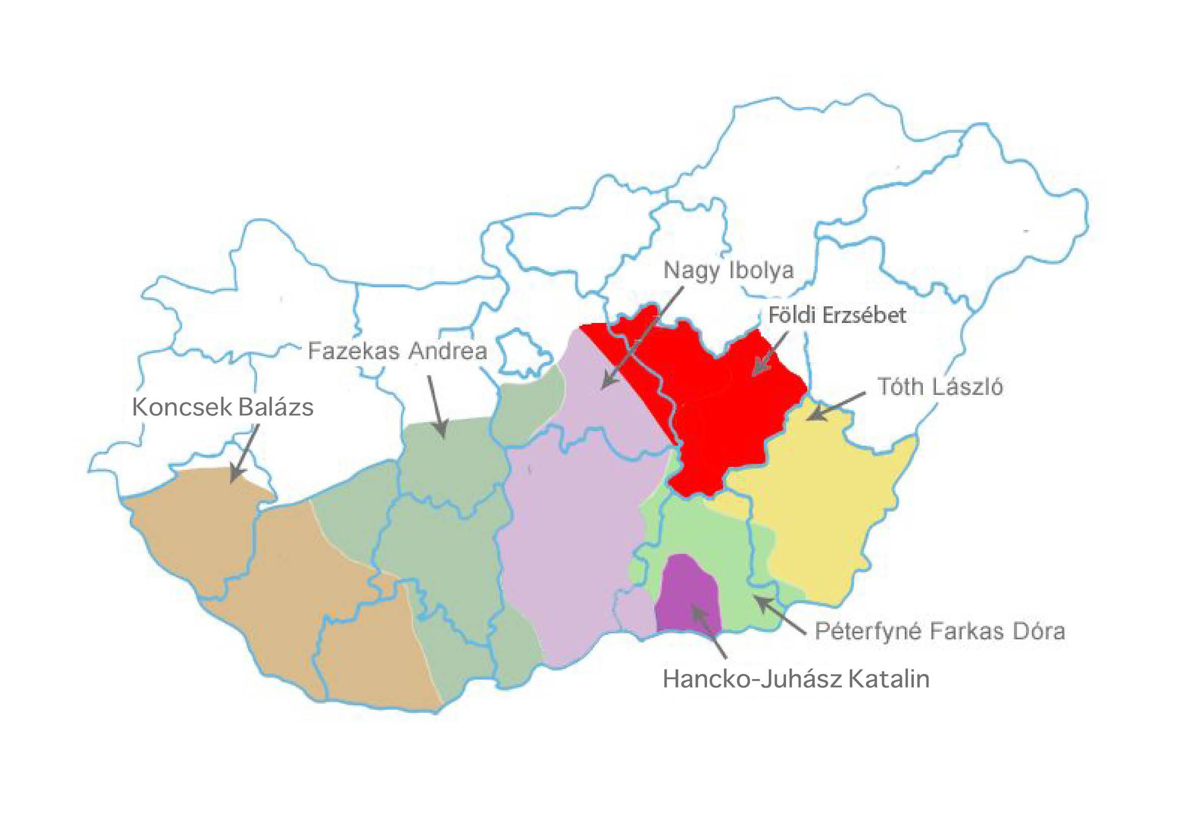 Képviselői területek
