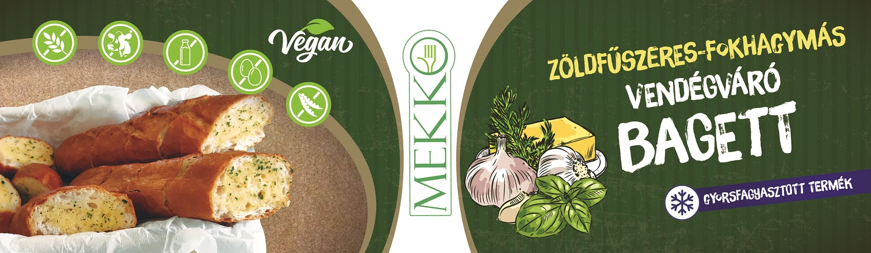 MEKKO Zöldfűszeres-fokhagymás bagett