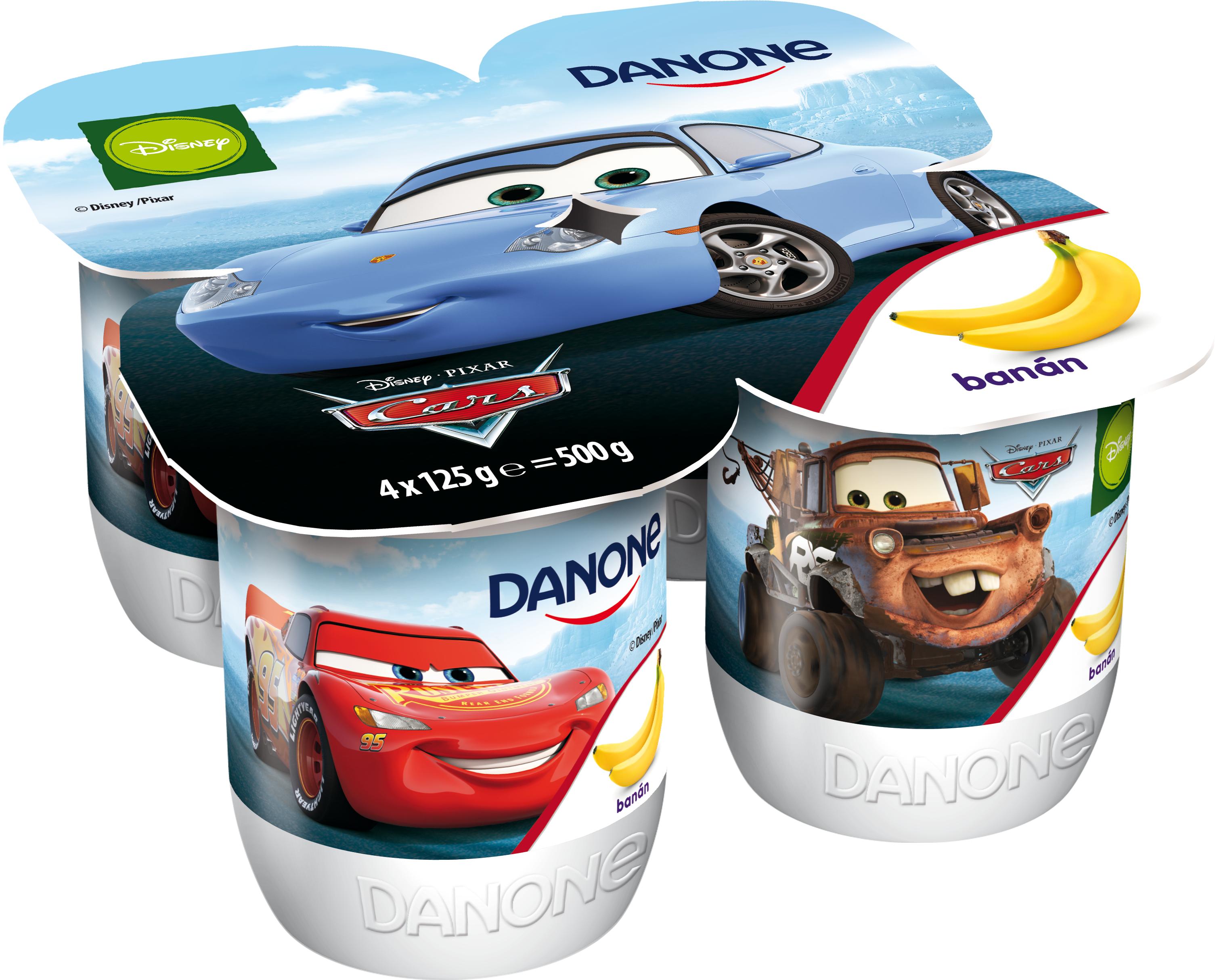 DANONE Disney joghurt banános, kekszes 4x125g
