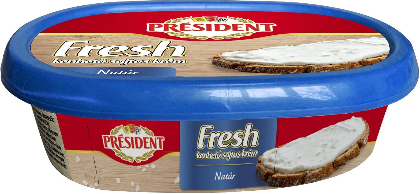 PRESIDENT Fresh sajtos krém 125g több ízben